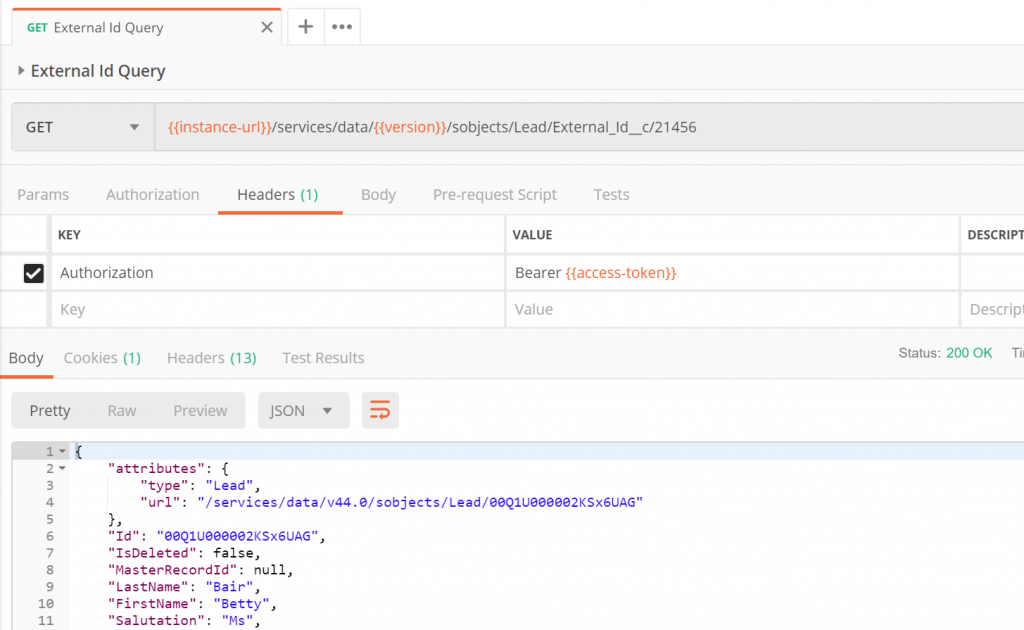 Introduction to the Salesforce REST API (using Postman